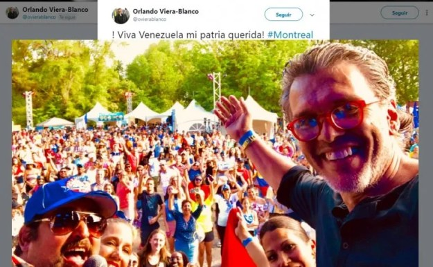 Fotografía publicada por el embajador de Venezuela en Canadá, Orlando Viera-Blanco, el 13 de julio de 2019 en su cuenta oficial de Twitter.