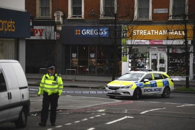 La escena después del incidente en Streatham