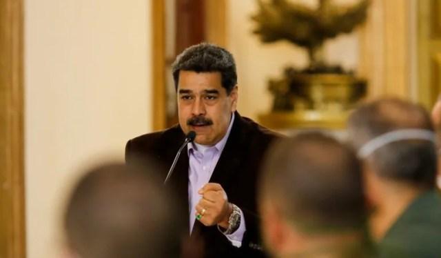 Fotografía del 16 de marzo de 2020 del dictador venezolano Nicolás Maduro, a quien EEUU acusa de narcoterrorismo.