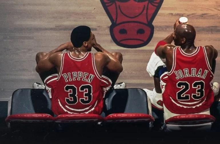 Pippen y Jordan en el documental