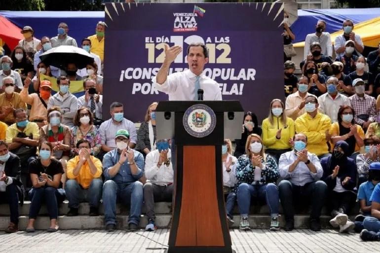 Juan Guaidó , presidente encargado de Venezuela.