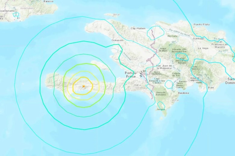 Un fuerte terremoto de 7,2 puntos en la escala de Richter sacudió a Haití. Fuente: USGS