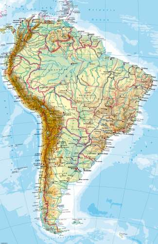 Maps   South America     Physical map   Diercke International Atlas Diercke Karte South America     Physical map