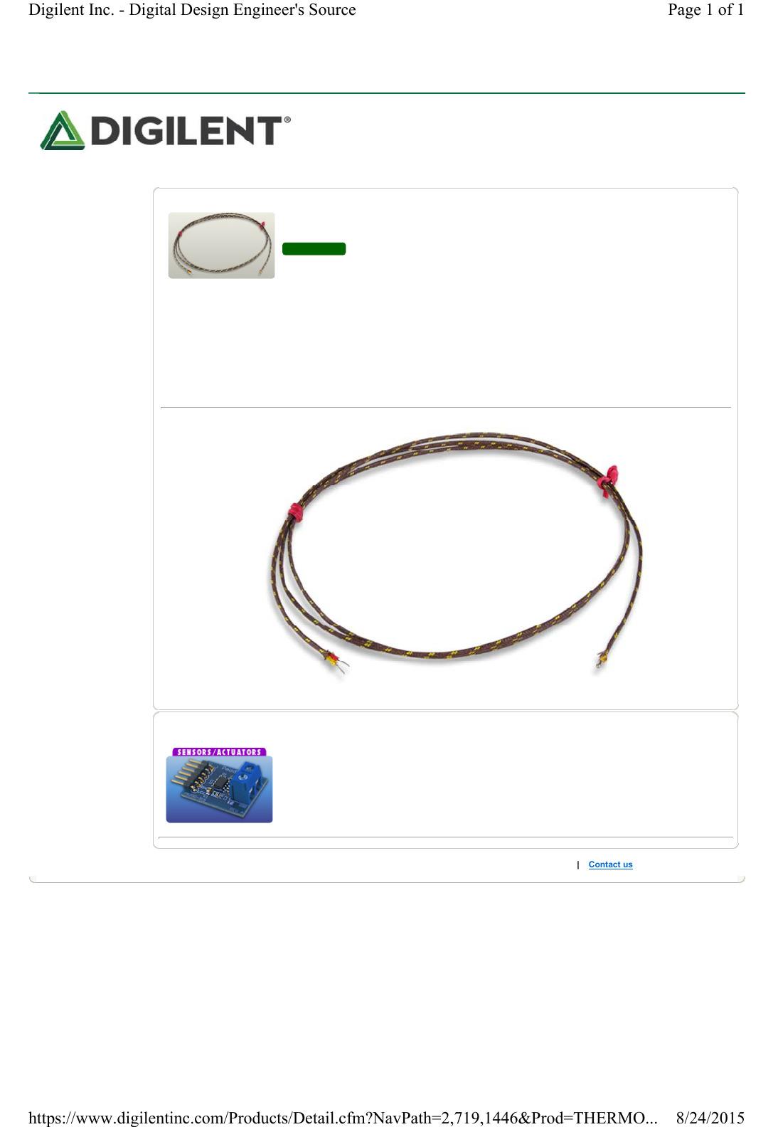 Thermocouple Wire Datasheet