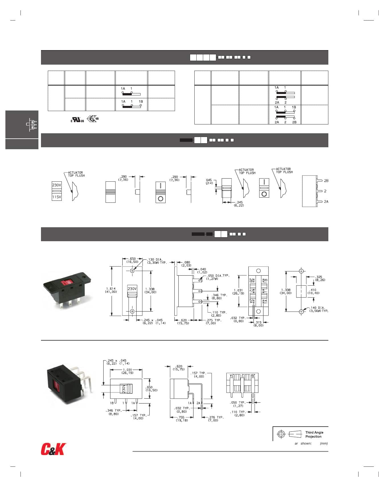 V Series Slide Datasheet