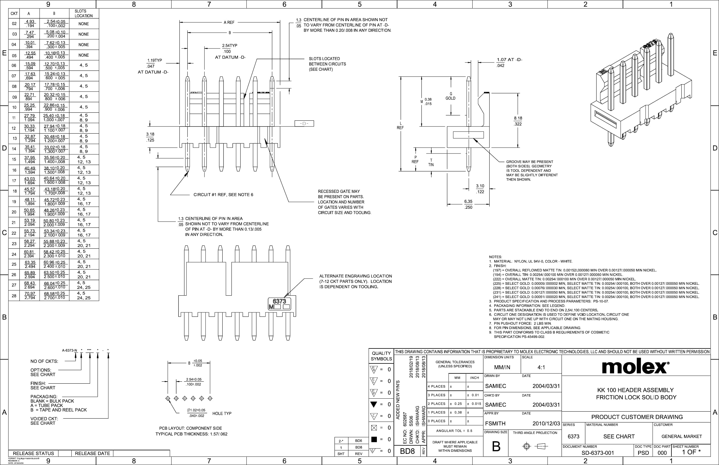 Kk 100 Header Assembly Drawing