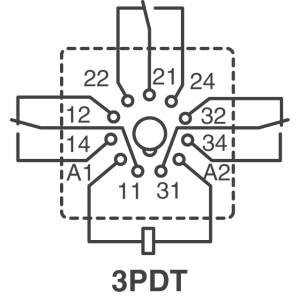MT, SCHRACK Series  TE Connectivity Potter & Brumfield