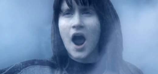 Girl frozen solid in Arctic Blast.