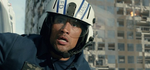 Dwayne Johnson in San Andreas.