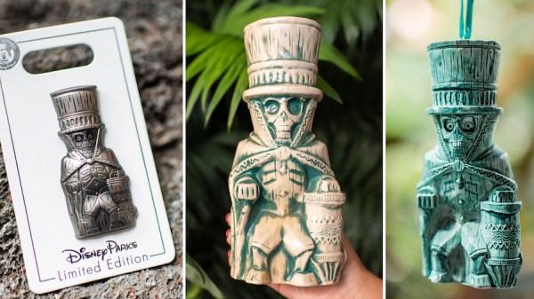 Hatbox Ghost Limited Edition Pin, Tiki Mug, and Ornament from Walt Disney World Resort