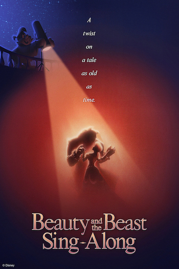 Poster for the brand new Beauty and the Best Sing-a-long, coming to the France Pavilion