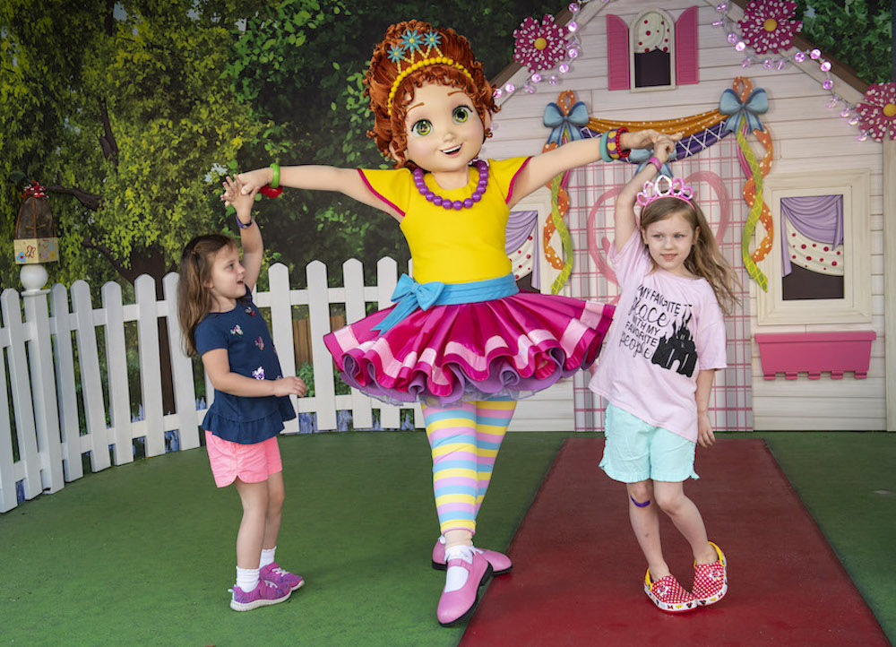 Fancy Nancy meeting her friends in her backyard playhouse in Animation Courtyard in Disney's Hollywood Studios