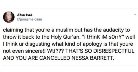 nessa fan reactions twitter 2 1586451551970 - Famosinha do TikTok Americano publicou vídeo ofensivo aos Muçulmanos