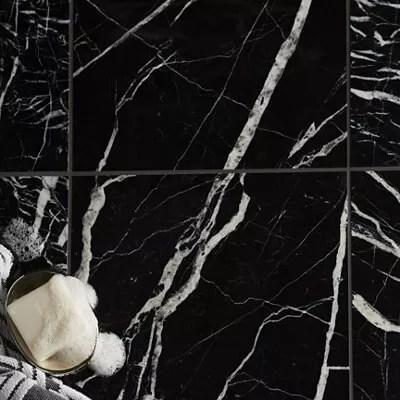 black marble black plain wall floor tile l 305mm w 305mm sample