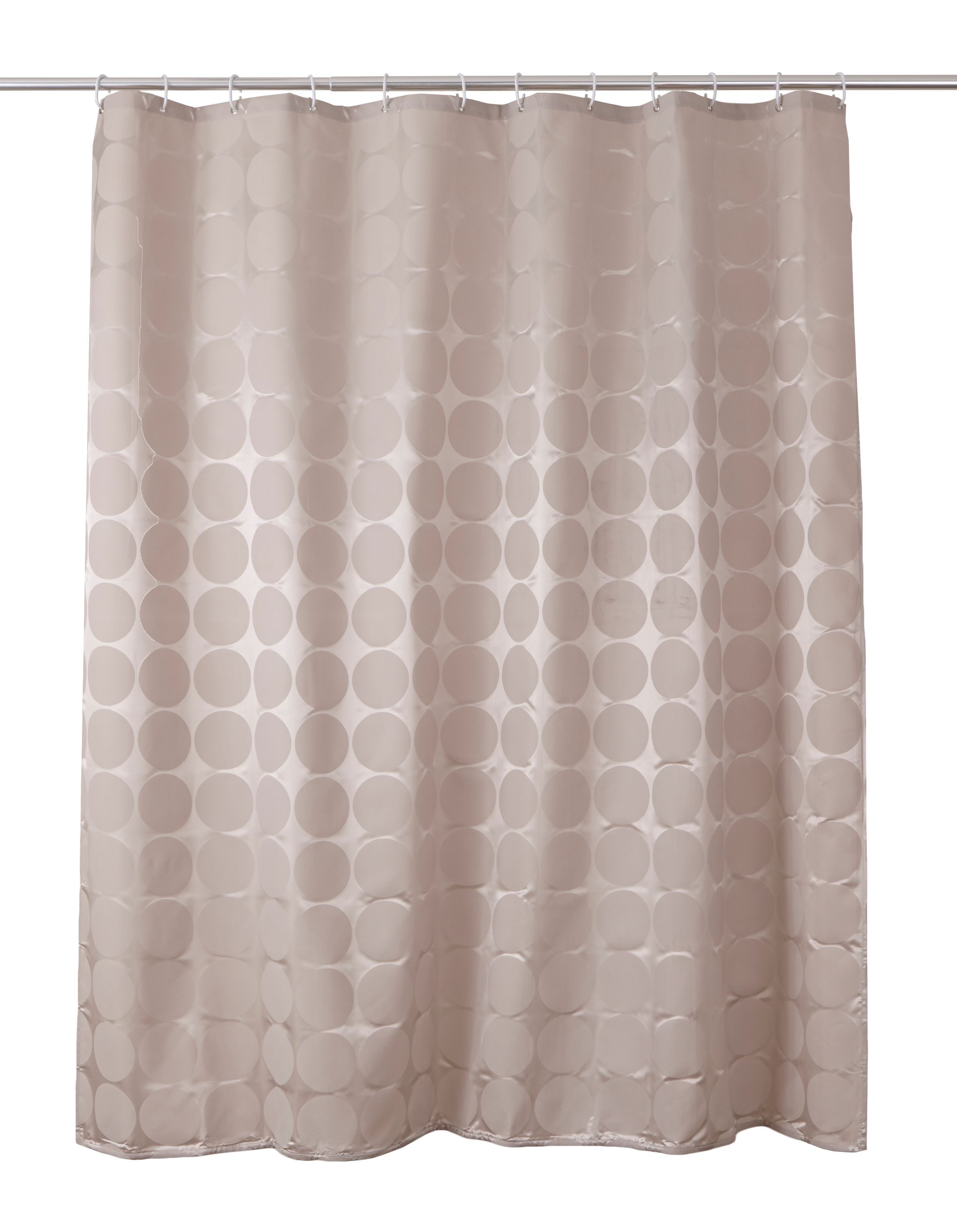 cooke lewis napo taupe dots shower curtain l 1800mm