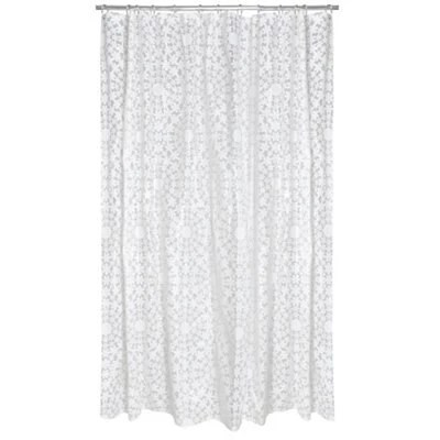 cooke lewis tulipa white floral shower curtain l 2000mm
