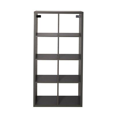 form mixxit grey 8 cube shelving unit h 1420mm w 740mm
