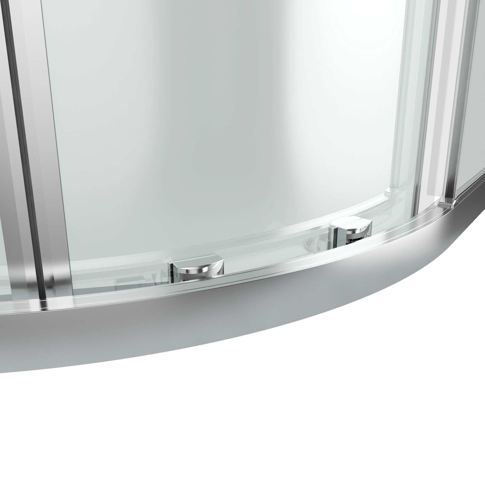 goodhome beloya quadrant clear shower enclosure with corner entry double sliding door w 800mm d 800mm