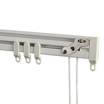 graham brown corded white fixed curtain track l 4m