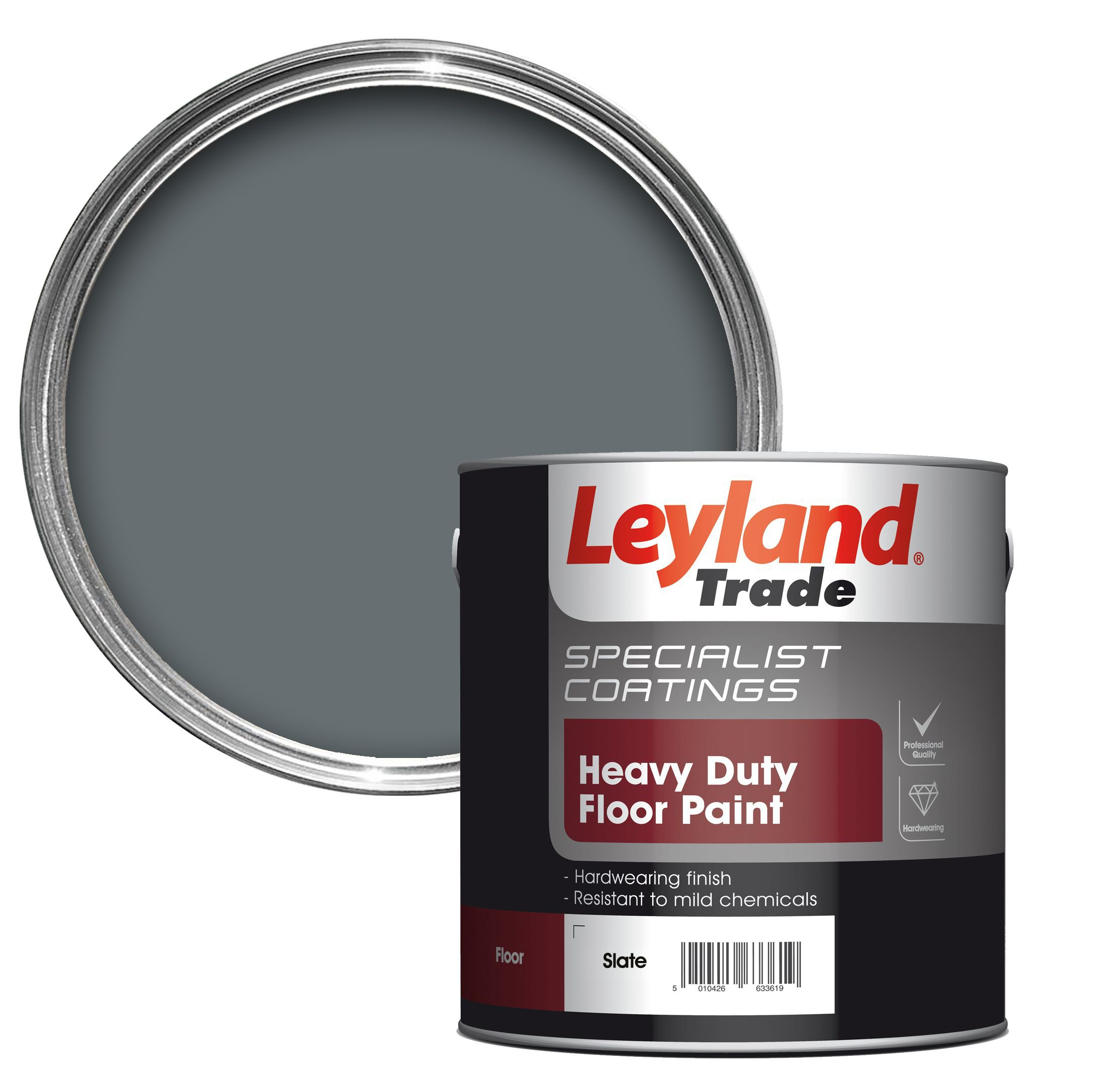 leyland trade heavy duty slate satin floor tile paint 2 5l
