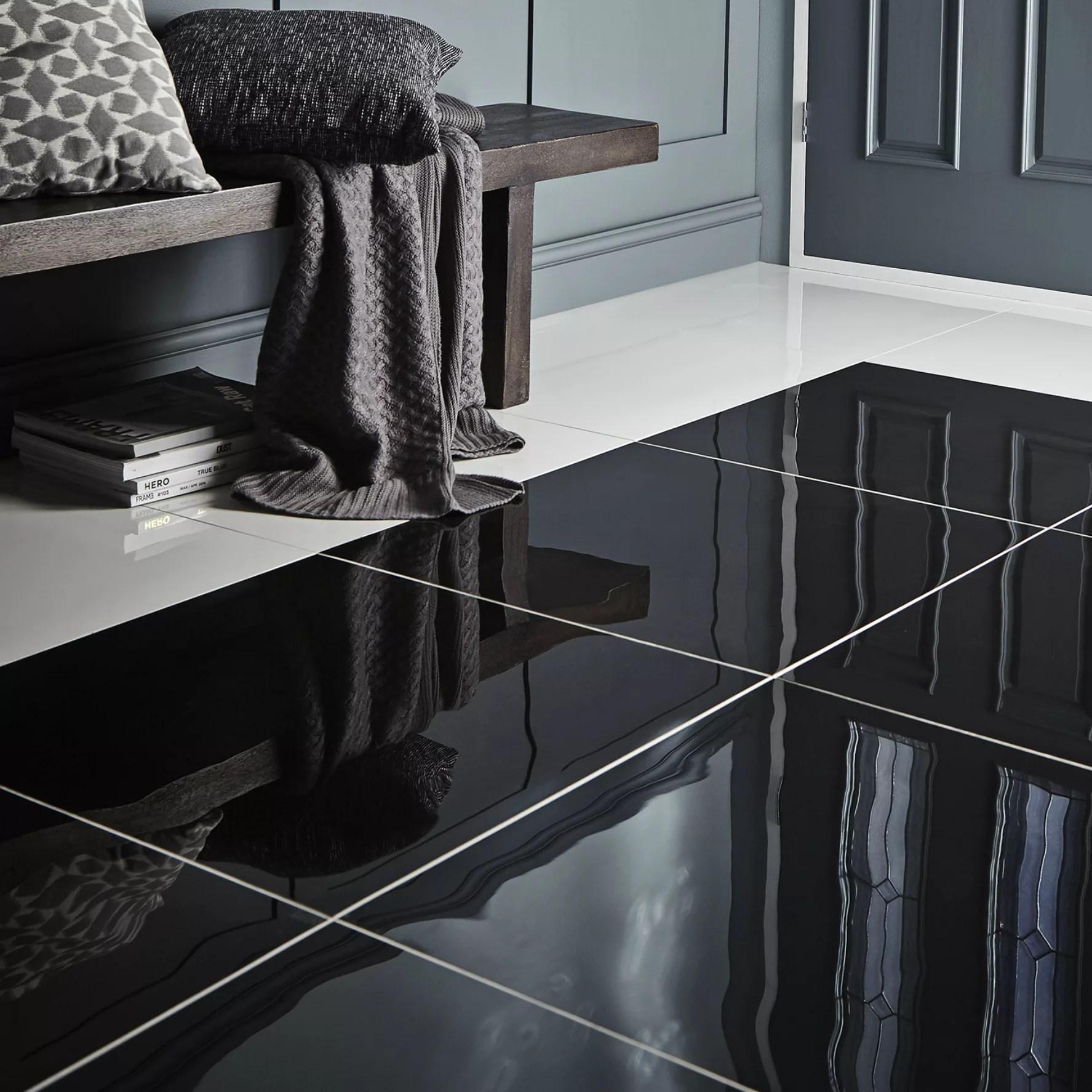 livourne black plain porcelain floor tile l 600mm w 600mm sample