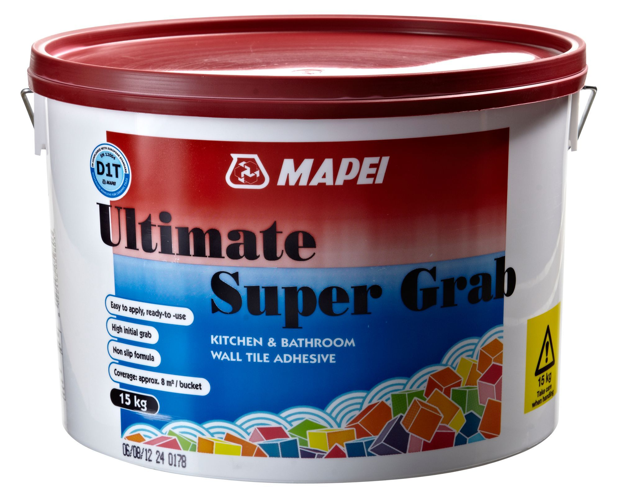 mapei ultimate super grab ready mixed tile adhesive 15kg