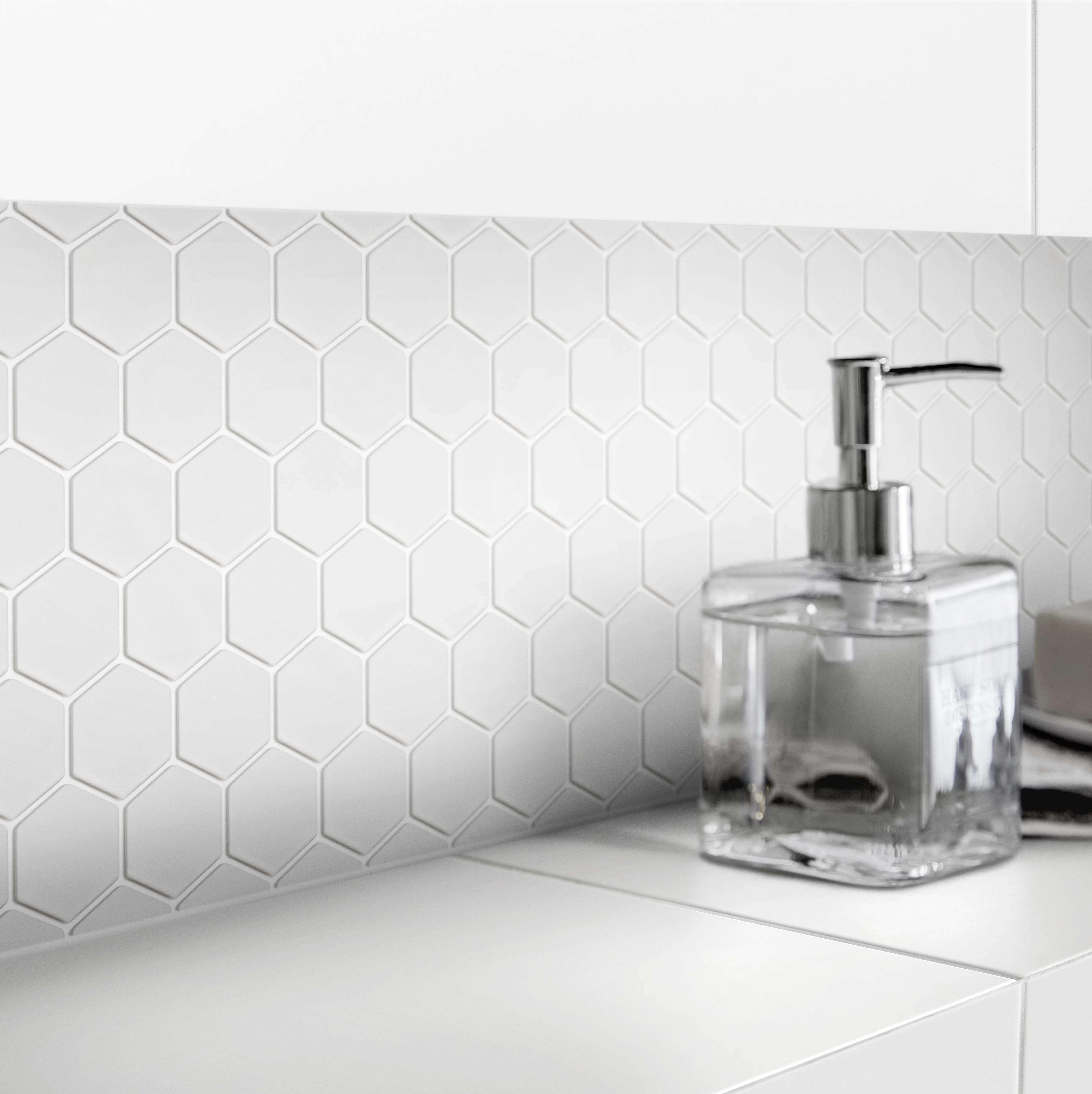 plain white plain glass mosaic tile sheets l 300mm w 300mm