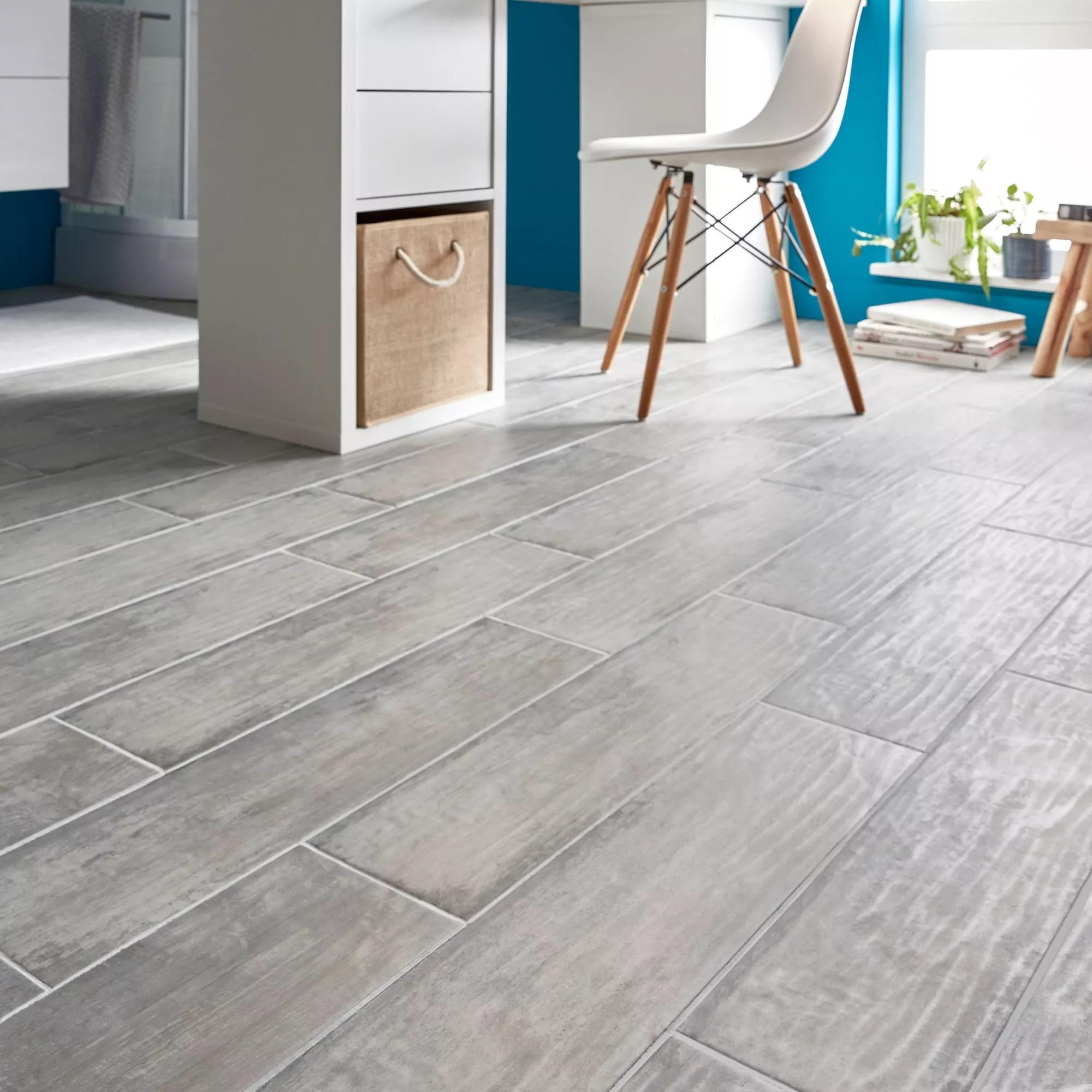 soft patinated grey matt wood effect porcelain floor tile pack of 11 l 600mm w 150mm