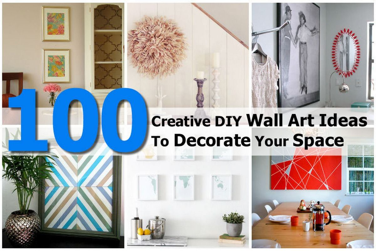 100 Creative DIY Wall Art Ideas To Decorate Your Space on Creative Wall Art Ideas  id=52675