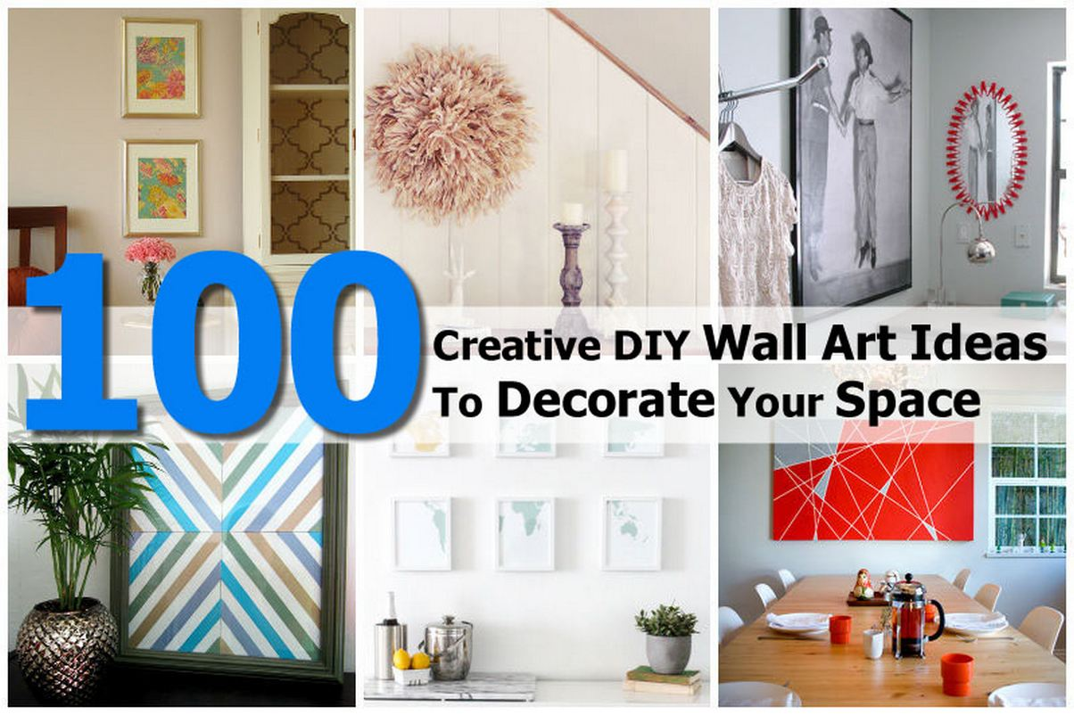 100 Creative DIY Wall Art Ideas To Decorate Your Space on Creative:kqmwrvdqiag= Wall Art Ideas  id=56885