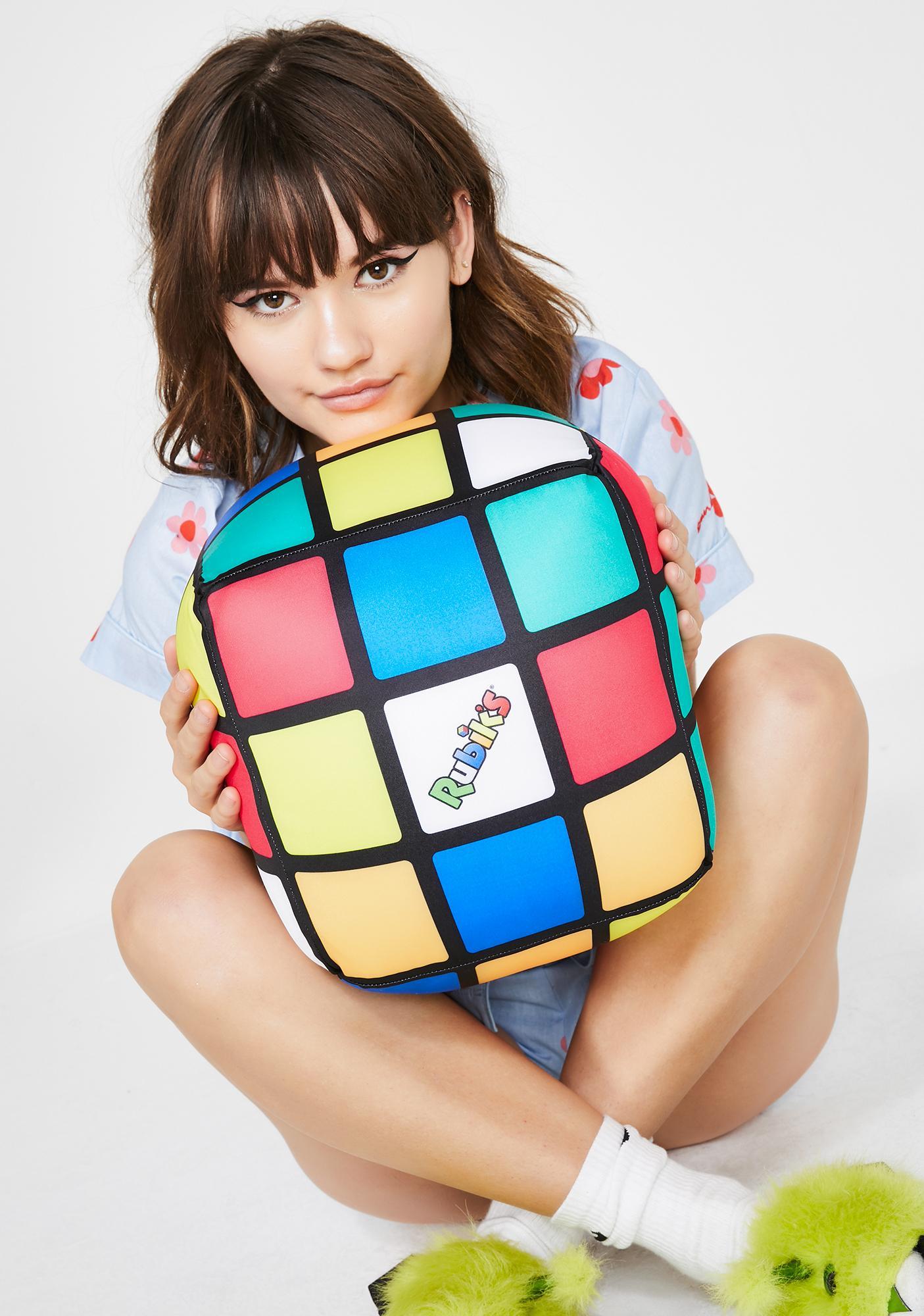 rubik s revolution cube pillow