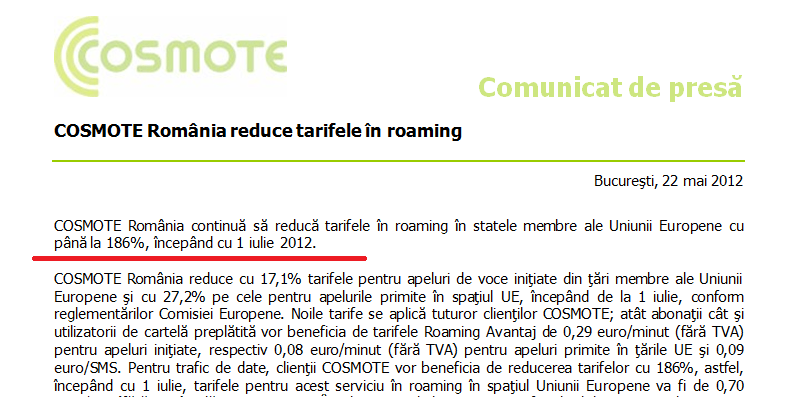 Se reduc tarifele in roaming