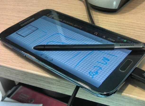 Samsung Galaxy Note II in Romania