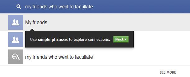 Graph search de la Facebook in romana