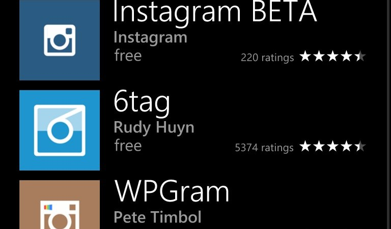Instagram BETA pe Windows Phone
