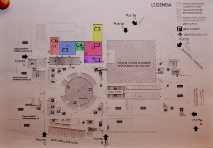Planul general cu pavilionele de la Târgul de turism al României din martie 2012