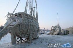 Portul Tomis inghețat, februarie 2012