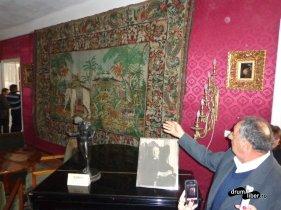 Tapițeri din Lyon - Tablou indian - Muzeul Octavian Goga de la Ciucea, județul Cluj
