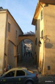 Cetatea Medievală Sighișoara - Biserica din Deal în depărtare