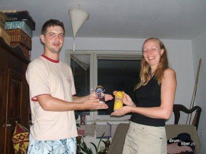 Schimb de beri cu gazda mea, Christine Hinterlagen (Couchsurfing, Viena)
