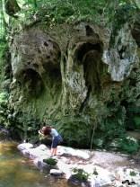 Pozând cascada