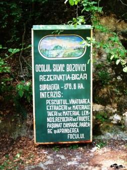 Rezervația Bigăr, panou