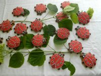Operă de artă din turtă dulce - Buburuze