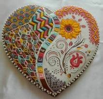 O inimă mare din turtă dulce