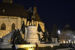 Piața Unirii pe timp de noapte