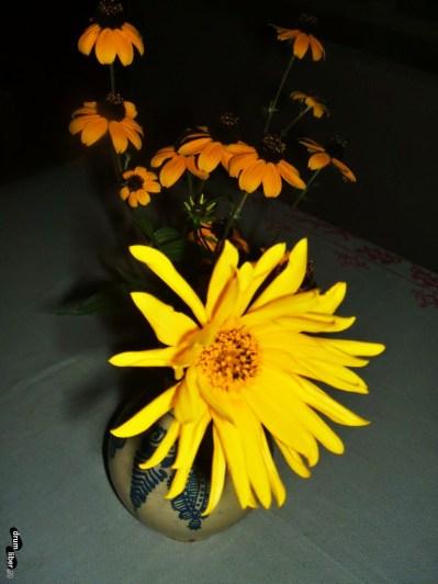 Pe masă, flori