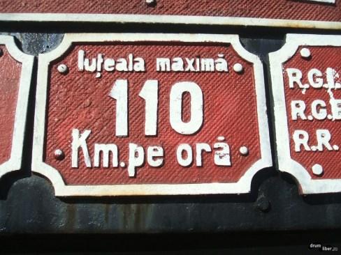 Iuțeală maximă 110 km pe oră