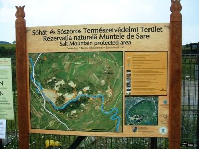 Harta Rezervației Muntele de Sare Praid