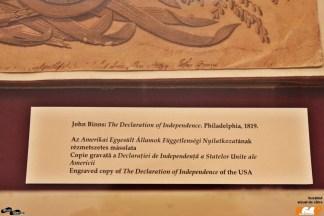 Copie gravată a Declarației de independență a SUA