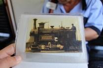 Vedere veche cu prima locomotivă făcută la noi